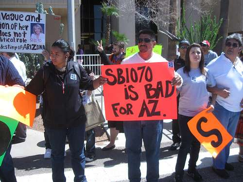 Official statement on sb1070 in arizona