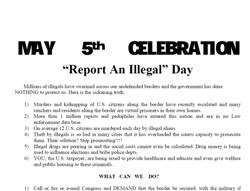 Neo-nazis call to make may 5th 'report an illegal day'