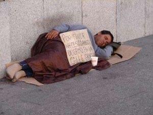 homeless en Madrid