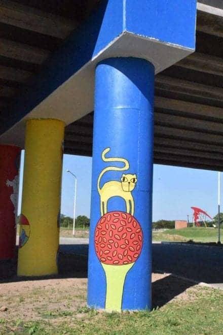 Mural en la carretera