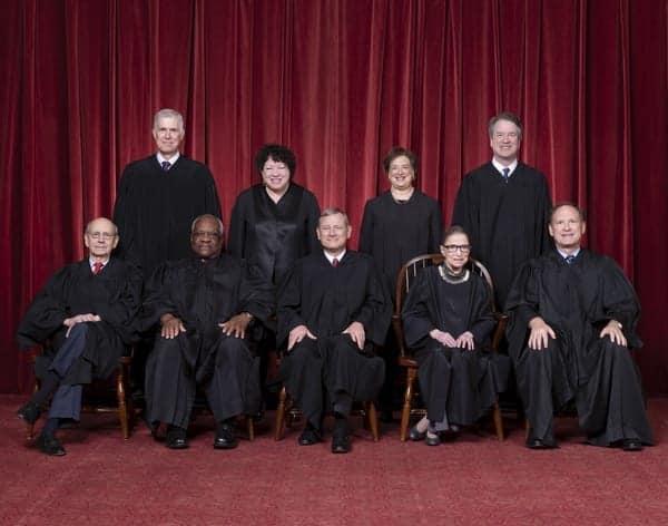 Corte Suprema de Estados Unidos, 2018 (Wikimedia)