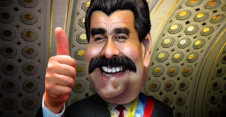 Nicolás Maduro en caricatura