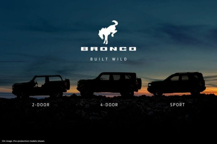 Bronco line up
