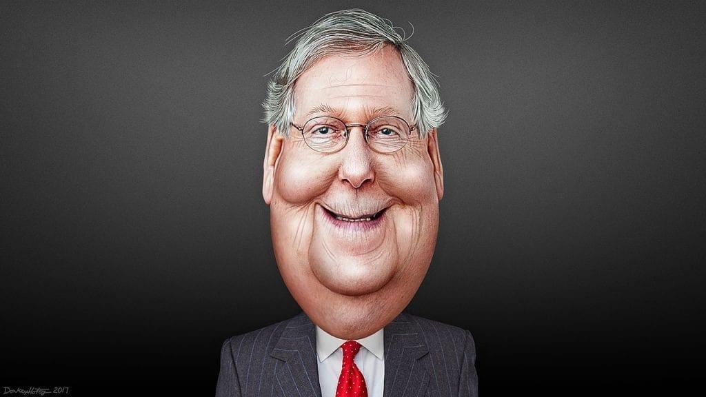 Mitch McConnell lider de los senadores republicanos