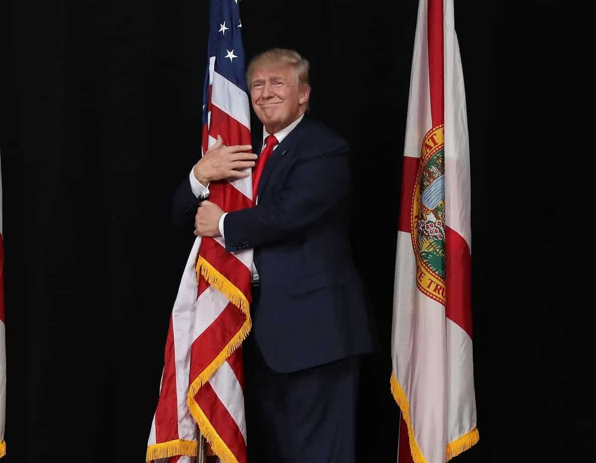 Trump with flag 2