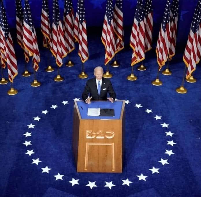 cumplir su promesa Biden para Presidente: en la Convención Demócrata