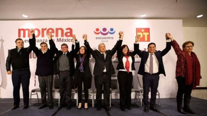 El equipo de Morena en 2019