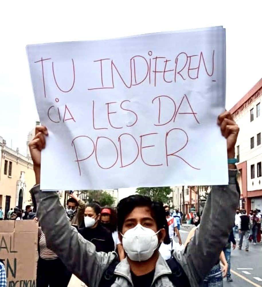 Protesta en el Perú