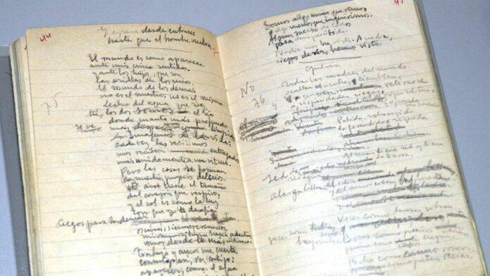Cuaderno de Miguel Hernandez Elegia